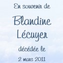 Blandine Lussier Lécuyer, 2011-03-02