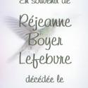 Réjeanne Lefebvre-Boyer, 2011-02-27