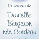 Danielle Bergeron née Cordeau , 2011-06-22