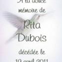 Rita Dubois, 2011-04-19