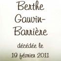 Berthe Gauvin-Barrière, 2011-02-19