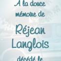 Réjean Langlois, 2011-04-18