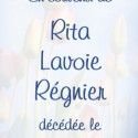 Rita Régnier Lavoie, 2011-01-29