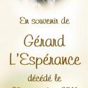 Gérard L'Espérance, 2011-09-25
