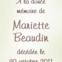 Mariette Beaudin, 2011-10-30