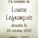 Louise Lefrançois, 2012-10-19