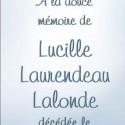 Lucille Laurendeau Lalonde, 2012-10-23