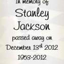 Stanley Jackson, 2012-12-13
