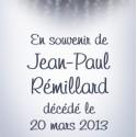 Jean-Paul Rémillard, 2013-03-20