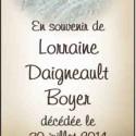 Lorraine Daigneault Boyer, 2014-07-30