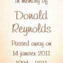 Donald Reynolds, 2011-01-14