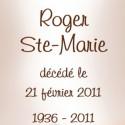 Roger  Ste-Marie, 2011-02-21
